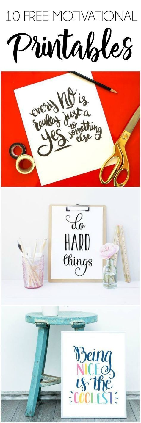 10 Motivational Free Printables for your Workspace