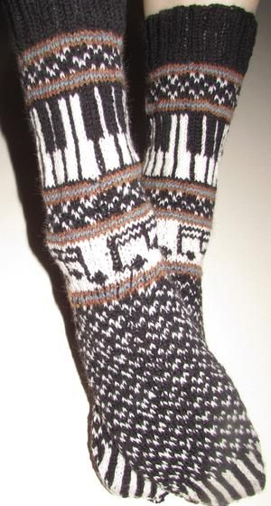 Musica: The Sock 2014 - Knitting Patterns and Crochet Patterns from KnitPicks.com