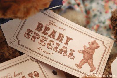 Free Printable Vintage Teddy Bear Tags