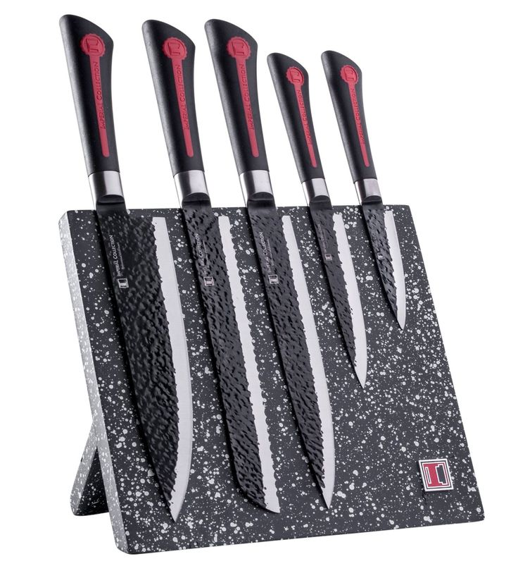 Amazon.com: Imperial Collection 6 Piece Knife Set Including Magnetic Knife  Block   Extremely Sharp High Quality Stainless Steel Non Stick Coating Ku2026  ...