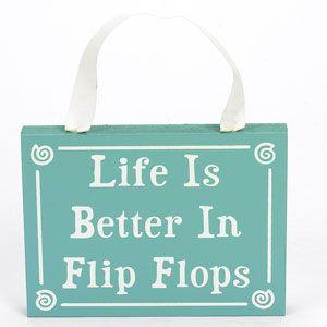 every beach girl lives in flip flops...