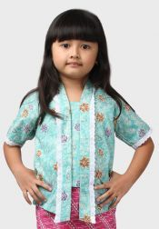 Van Batik  Van Batik Kebaya Top Biru