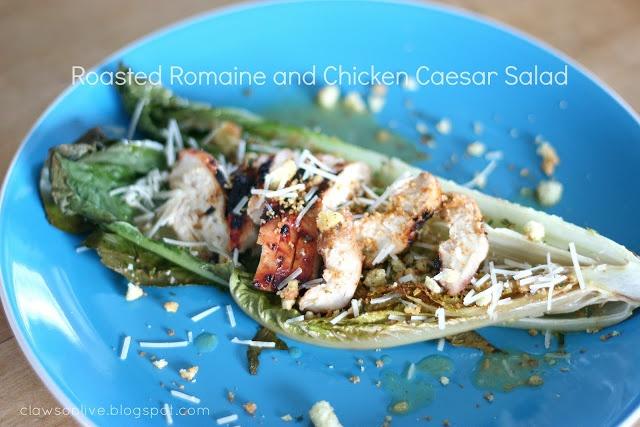 Roasted Romaine and Chicken Caesar Salad   Salads   Pinterest