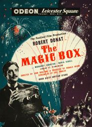 The Magic Box //    Directed by	John Boulting  Produced by	Ronald Neame  Written by	Ray Allister and Eric Ambler  Starring	Robert Donat  Margaret Johnston  Maria Schell  Robert Beatty  Ronald Shiner  Music by	William Alwyn  Cinematography	Jack Cardiff  Editing by	Richard Best  Distributed by	British Lion Films  Release date(s)	1951