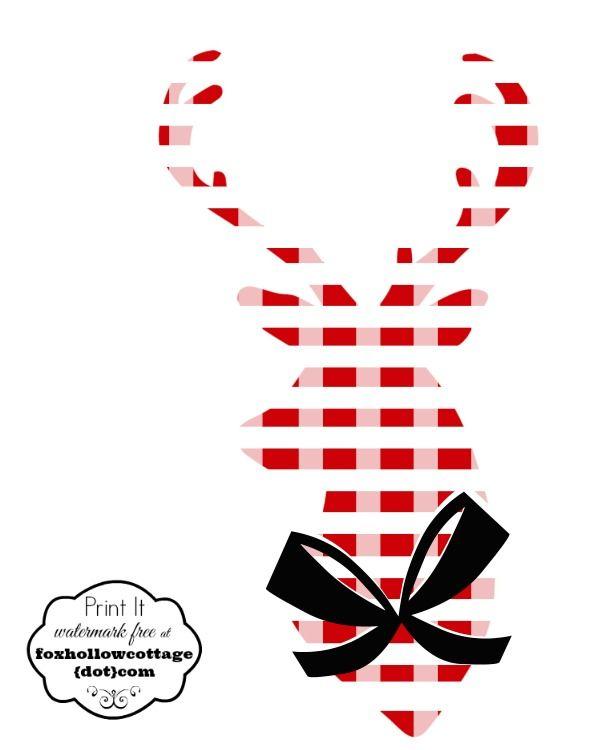 Free Christmas Printable Plaid Deer Head Silhouette - Fox Hollow Cottage