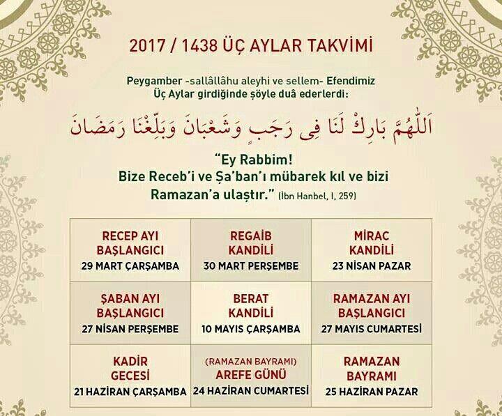 """""""Allâhümme bârik lenâ fî Recebe ve Şaban ve belliğnâ Ramazan""""  """"Yâ Rabbi, bize Recep ve Şaban'ı mübarek eyle ve bizi Ramazan'a ulaştır.""""  #recep #şaban #ramazan #mubarek #dua #amin #üçaylar #istanbul #türkiye #ilmisuffa"""