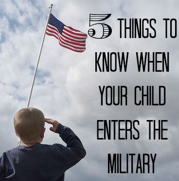 5 Things to Know When Your Child Joins the Military OMG my baby (8) salutes me (and I have to do it back) lol and he says he can't wait to fly jets