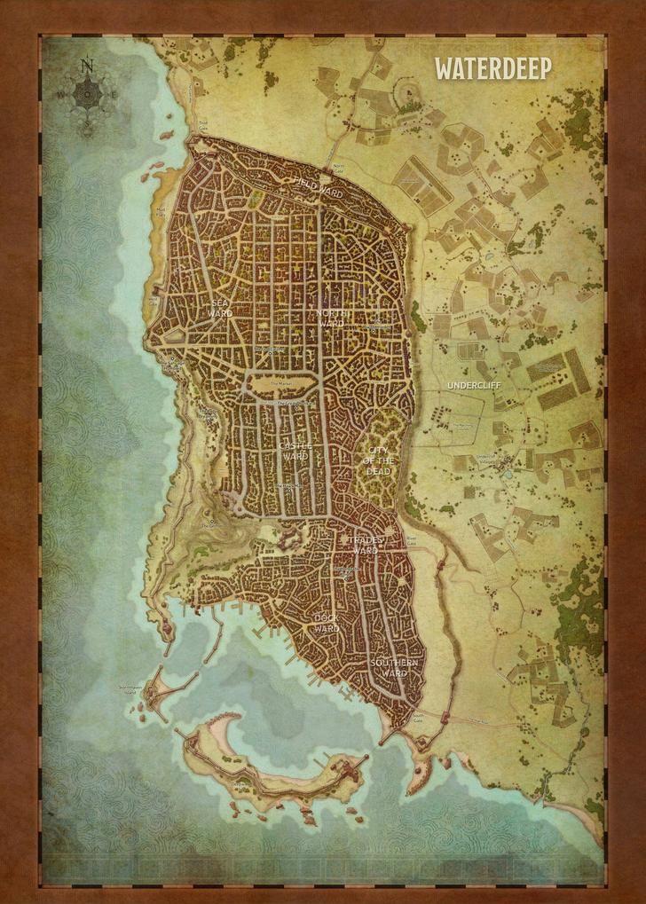 Map Of Waterdeep : waterdeep, Waterdeep, Player, Fantasy
