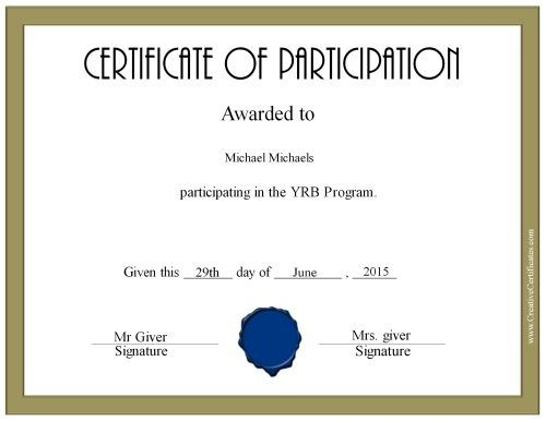 Best 25+ Certificate of participation template ideas on Pinterest - blank birth certificate template