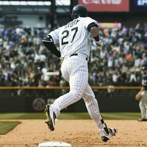 The records keep coming for Colorado Rockies Trevor Story.  He is 1st player in MLB history to hit 6 HRs in 1st 4 games of season. (via EliasSports/Twitter)  4/8/2016