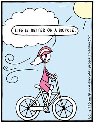 Bicycle Cartoon - humorous humorous wholesale greeting cards and magnets, made in Canada
