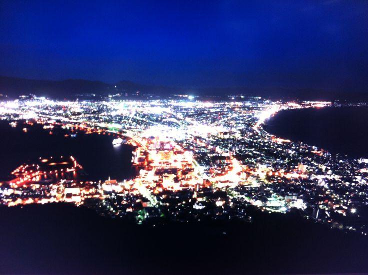 Bay Hakodate view from Mt.Hakodate