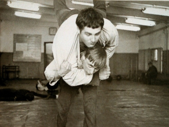 "Young Putin practicing ""Sambo"" -- Soviet version of judo/karate/wrestling  (www.thedailybeast.com/)"
