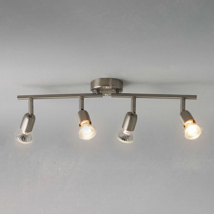 BuyJohn Lewis The Basics Keeley 4 LED Spotlight Ceiling Bar, Brushed Chrome Online at johnlewis.com