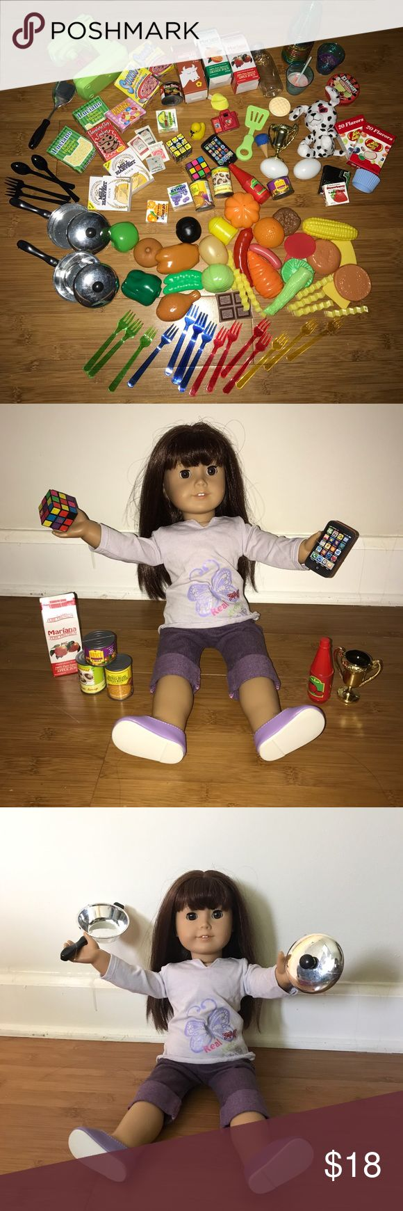American girl doll kitchen set accessories Selling my collection of American girl doll sized accessories and toys. Adorable accessories and doll sized food and kitchen items. Works for any 18 inch doll. Selling from a smoke free, pet free home. (Brand is used for exposure) DOLL NOT INCLUDED ⭐️ FOR LOWER ITEM PRICES AND SHIPPING PRICES BUY ON MY MERCARI! (shop.sherri) ⭐️ Tags: Pink, American girl, our generation, clothes, accessories, 18 inch, hand sewn american girl Other