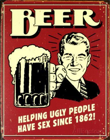 Bierposter, met Engelse tekst Emaille bord bij AllPosters.nl