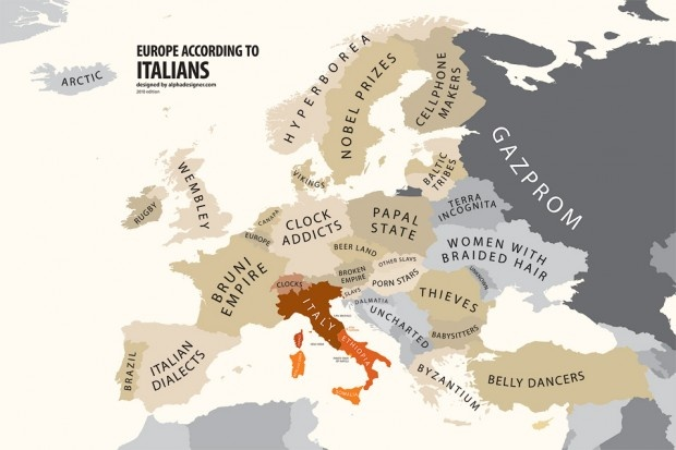 Europe According To Italians