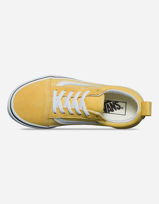 1f582b620e0 VANS Old Skool Elastic Lace Yellow   True White Kids Shoes