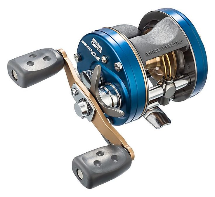 Abu garcia ambassadeur c4 classic round baitcast reels for Bass fishing spinning reels