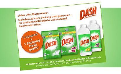 Dash Gewinnspiel
