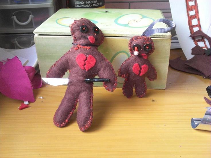 muñecos vudu con pañolenci