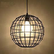 Retro Contracted Black Wrought Iron Birdcage Pendant Lights Restaurant,Cafe ,Game Room,Garage light Fixture – USD $ 111.99