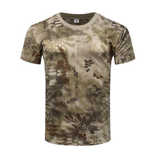 Mens Tactical Quick-Drying T-shirts Hunting Hiking Camouflage Combat Shirts Tops