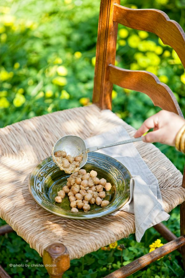 From the Aegean countryside.  Revithia Fournou (Wood-fired oven baked chickpeas)