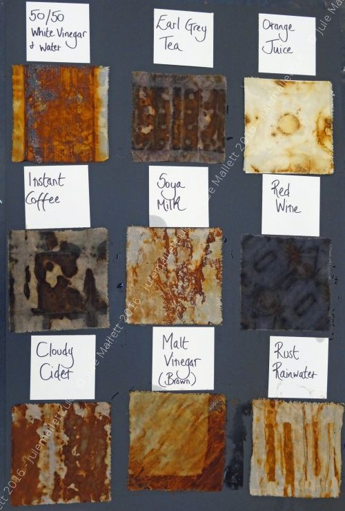 Gallery - Workshop: Dyeing and printing with rust