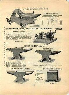 1906 ADVERTISEMENT Blacksmiths' Peter Wright Anvil Anvils Saw Makers' Columbian