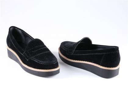 Atiker - Kadın Siyah Ortopedik Günlük Poli Taban Topuklu Ayakkabı