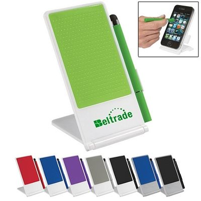 Promotional Phone Stand With Stylus Pen Item #HT-237 (Min Qty: 100). Customize your Promotional Stylus Phone Stands with your company logo and with no setup fees.