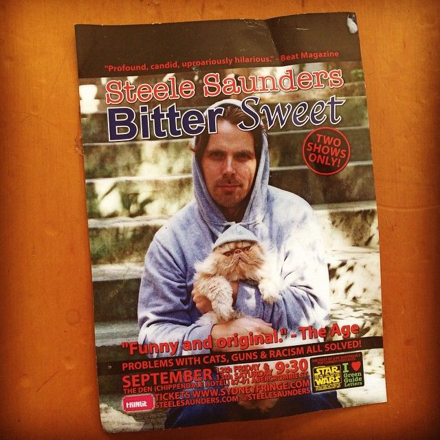 """@steelesaunders's photo: """"My last show of #mfringe is tonight at 8pm. Then this promotional flier becomes rubbish... Poignant."""""""