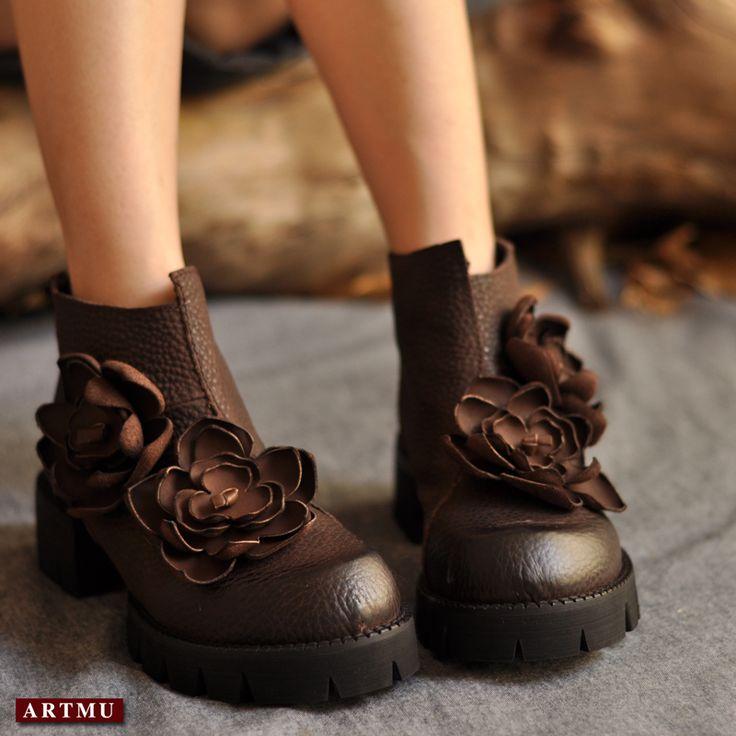 Купить Натуральной кожи ручной женщины сапоги национального тенденция старинные fs более низкой толстые каблуки сапоги на платформе женская обувьи другие товары категории Сапоги и ботинки и обувь цветочнымв магазине Dream Girl shoes houseнаAliExpress. ботинки ботинки номер и чистка обуви карнавал