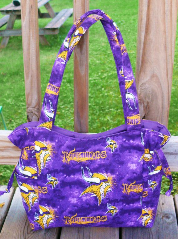 Minnesota Vikings Football NFL Handbag, Baby Bag, Travel Bag, Purse, Tote