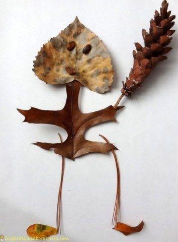 Leaf Man...haha this is cute!