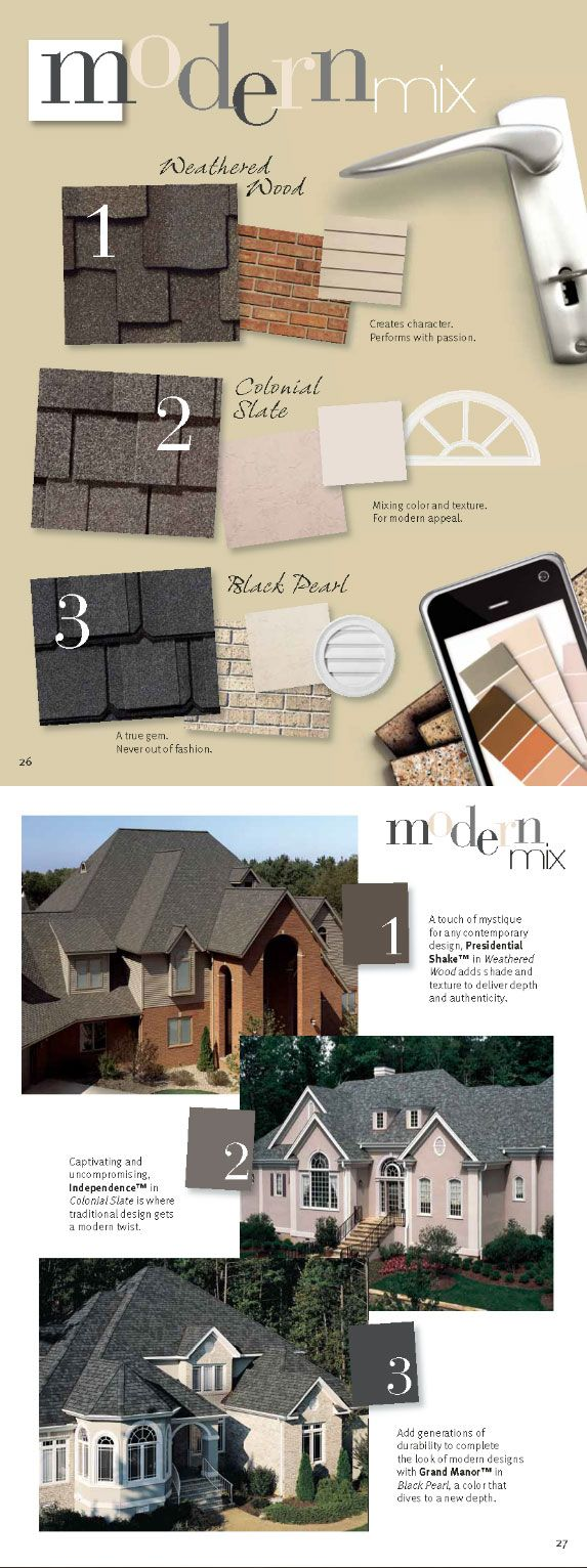 Quality roofing job begins before the shingles go on home remodeling - Modern Mix Style Home Design Colors Roofing Shingles Weathered Wood Colonial Slate