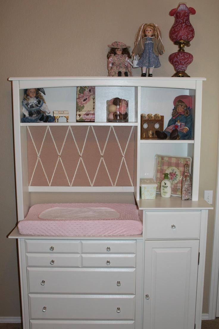Nursery- repurposed desk.