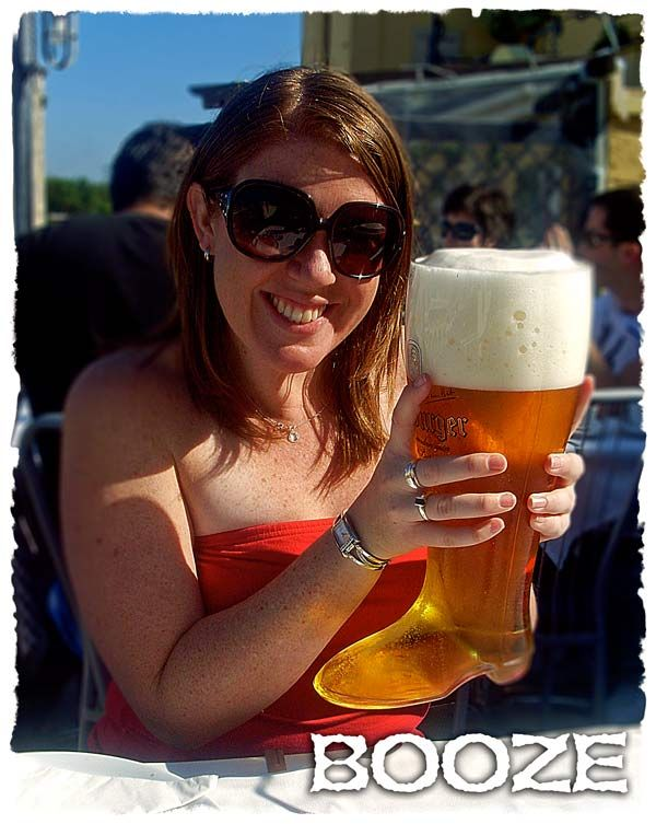Five Dollar Traveller: Booze. Drinking the infamous 2 litre boot beer in Rhodes, and other stories!