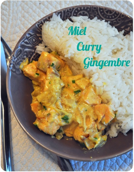 curry de saumon miel gingembre