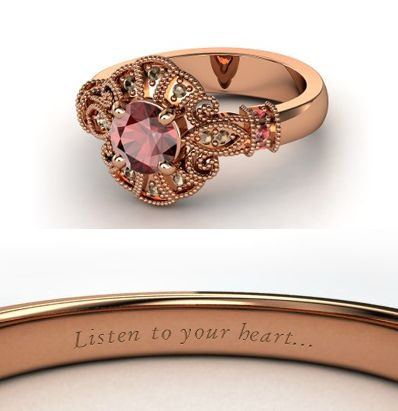 Disney has princess engagement rings! This is the Pocahontas one. But I'd take any of them