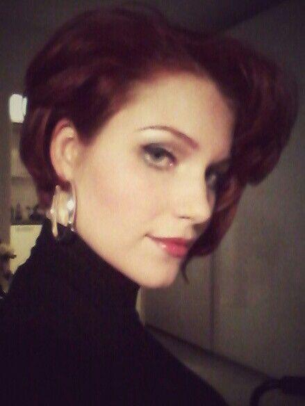 Short red hair