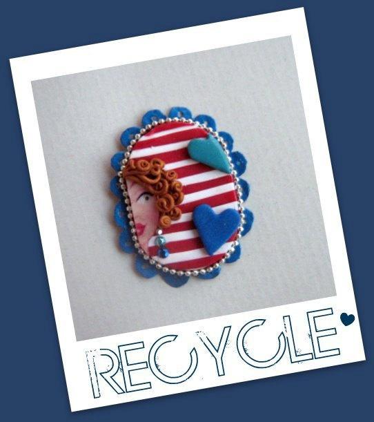 Ooak Necklace and brooch Eloise serie Recycle by JudithSara, €22.00