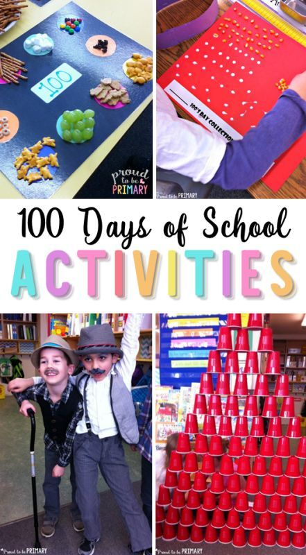 100 days of school activities for the primary classroom by Proud to be Primary.