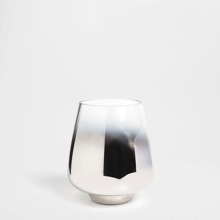 jarrn vidrio redondo efecto degradado jarrones decoracin zara home panam