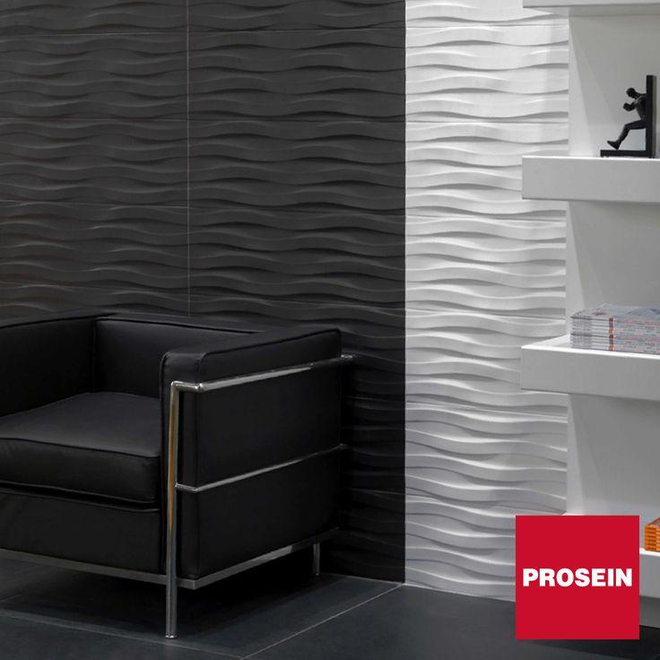 Contraste de color negro y blanco, dale un toque de elegancia a tus espacios. Asesórate en cualquiera de las tiendas PROSEIN.