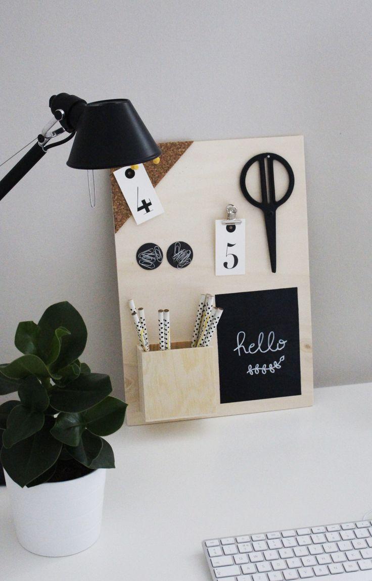 les 25 meilleures id es de la cat gorie organisation bureau sur pinterest rangement bureau. Black Bedroom Furniture Sets. Home Design Ideas