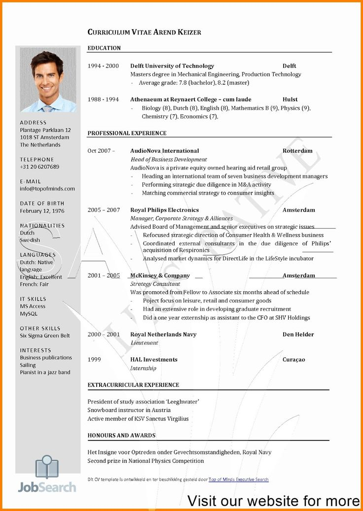 Resume Format Free Download in Ms Word Australia in 2020