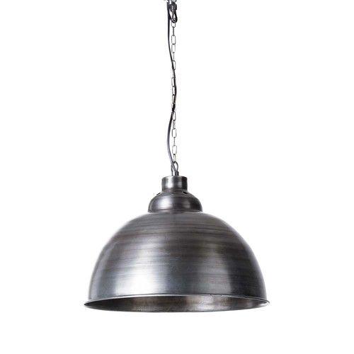 Lampada a sospensione in metallo spazzolato D 38 cm FACTORY