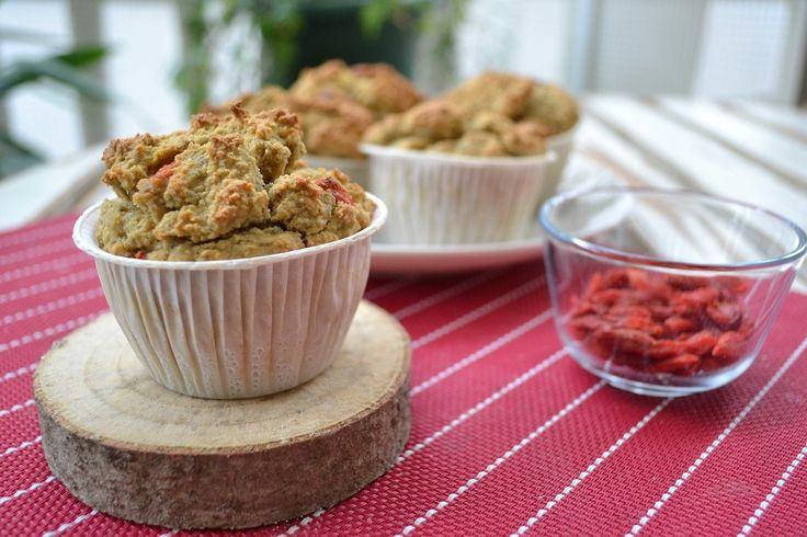 Muffin al latte di cocco e bacche di goji